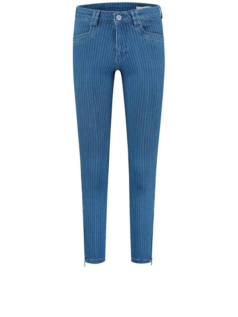 Para-Mi-broek-Amber-Summer-Blue-Print-Denim-Pinstripe-Blue-