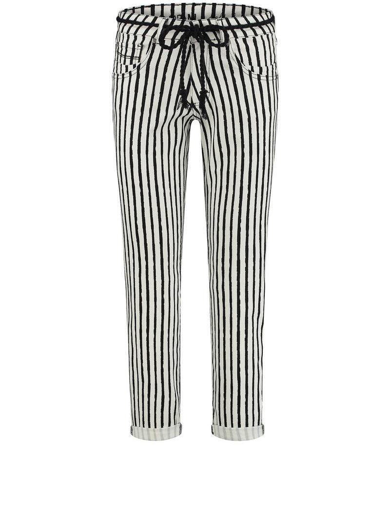 Para-Mi-broek-Bobby-Painted-Stripes-Black